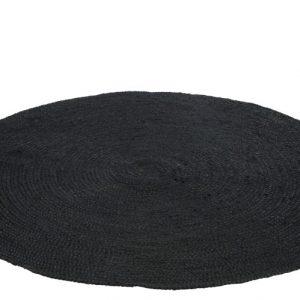 Tapis Rond Noir En Jute 150 CM De Diamètre